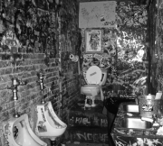 CBGB's bathroom. A birthplace of rock and roll.